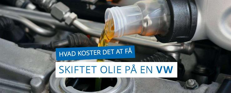 Få pris på olieskifte til din VW