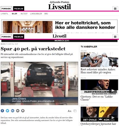 Jyllands Posten: Spar 40 pct. på værkstedet