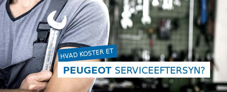 Pris på et Peugeot serviceeftersyn