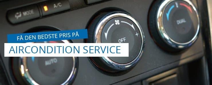 Pris på aircondition service og A/C rens