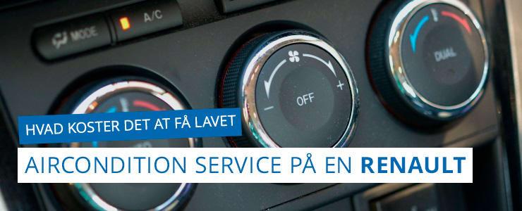 Aircondition service eller service på klimaanlæg - Renault