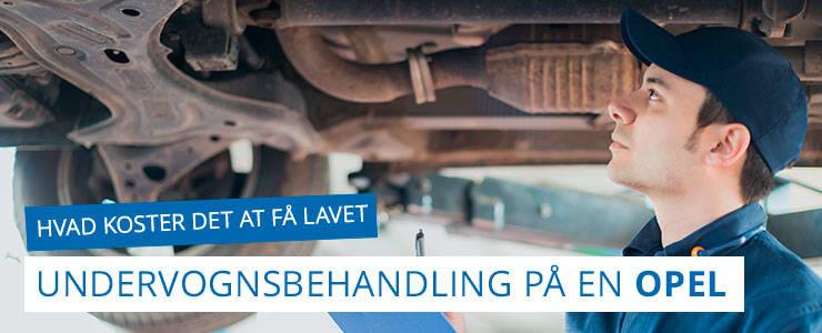 Undervognsbehandling og rustbeskyttelse - Opel