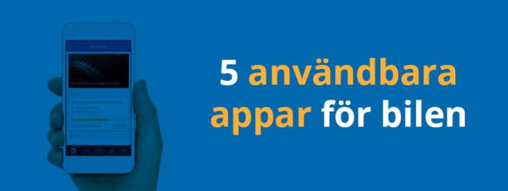 5 användbara appar för bilen