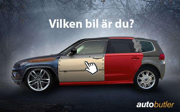 Ta Autobutlers biltest och få reda på vilken bil du är