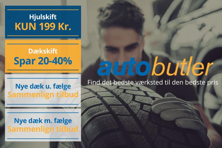 autobutler hjulskift dækskift nye dæk