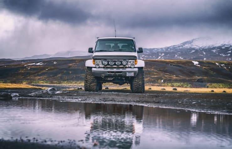 pneus 4x4 voiture nature