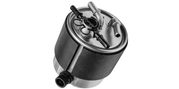 filtre gasoil ou essence sur fond blanc