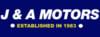 J & A Motors logo