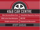 K & B Car Centre logo