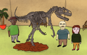 Build a Dinosaur Shadow Box