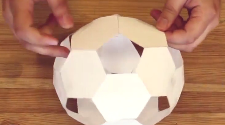 Origami Soccer Ball – How to Make Paper Soccer Ball Step by Step ... | 400x720
