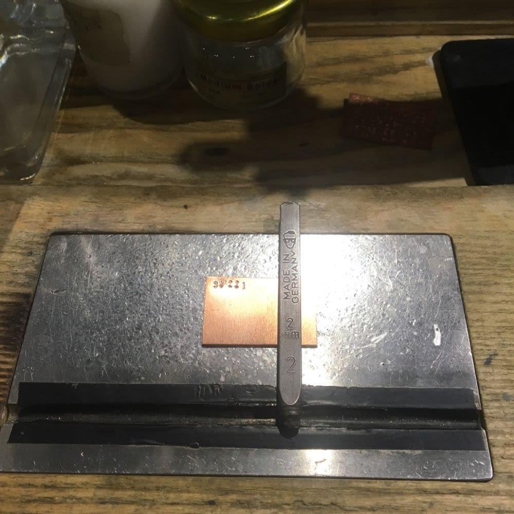 草山金工銅片及鋼印