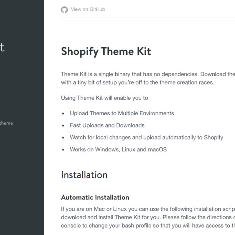 Shopifyテーマのデプロイツール「Theme Kit」の設定 | threedotfive