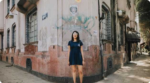 Digital Nomad Woman in Mexico