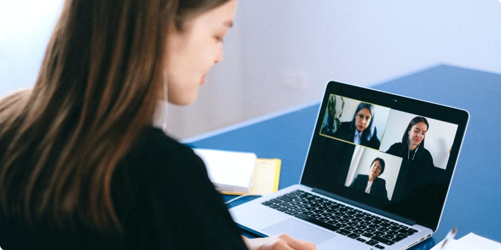 Zoom call remote job interview