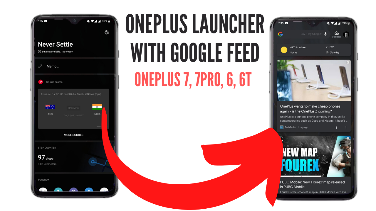 Install OnePlus launcher with Google Feed