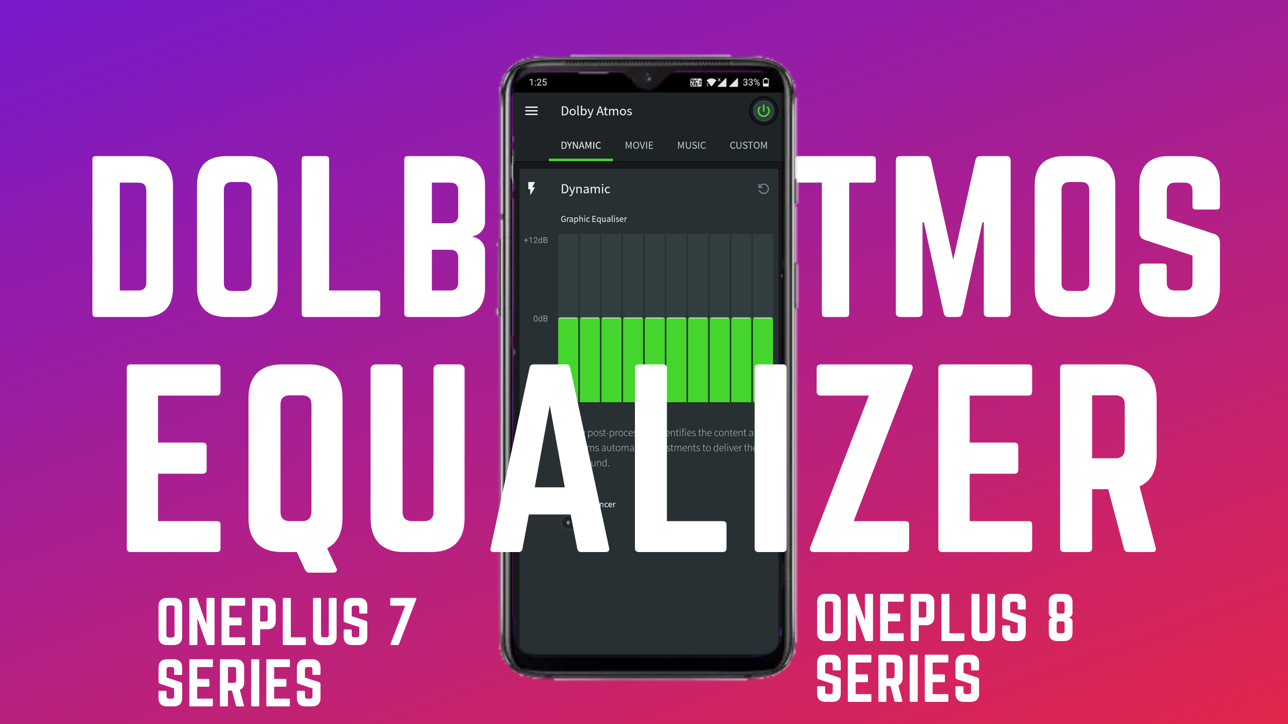 Enable Dolby Atmos Equalizer in any OnePlus (OnePlus 7 and 8 Series)