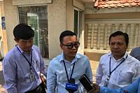 After briefing, Samdech Kheng...