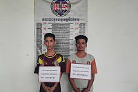 Two suspects were arrested by Kompong...