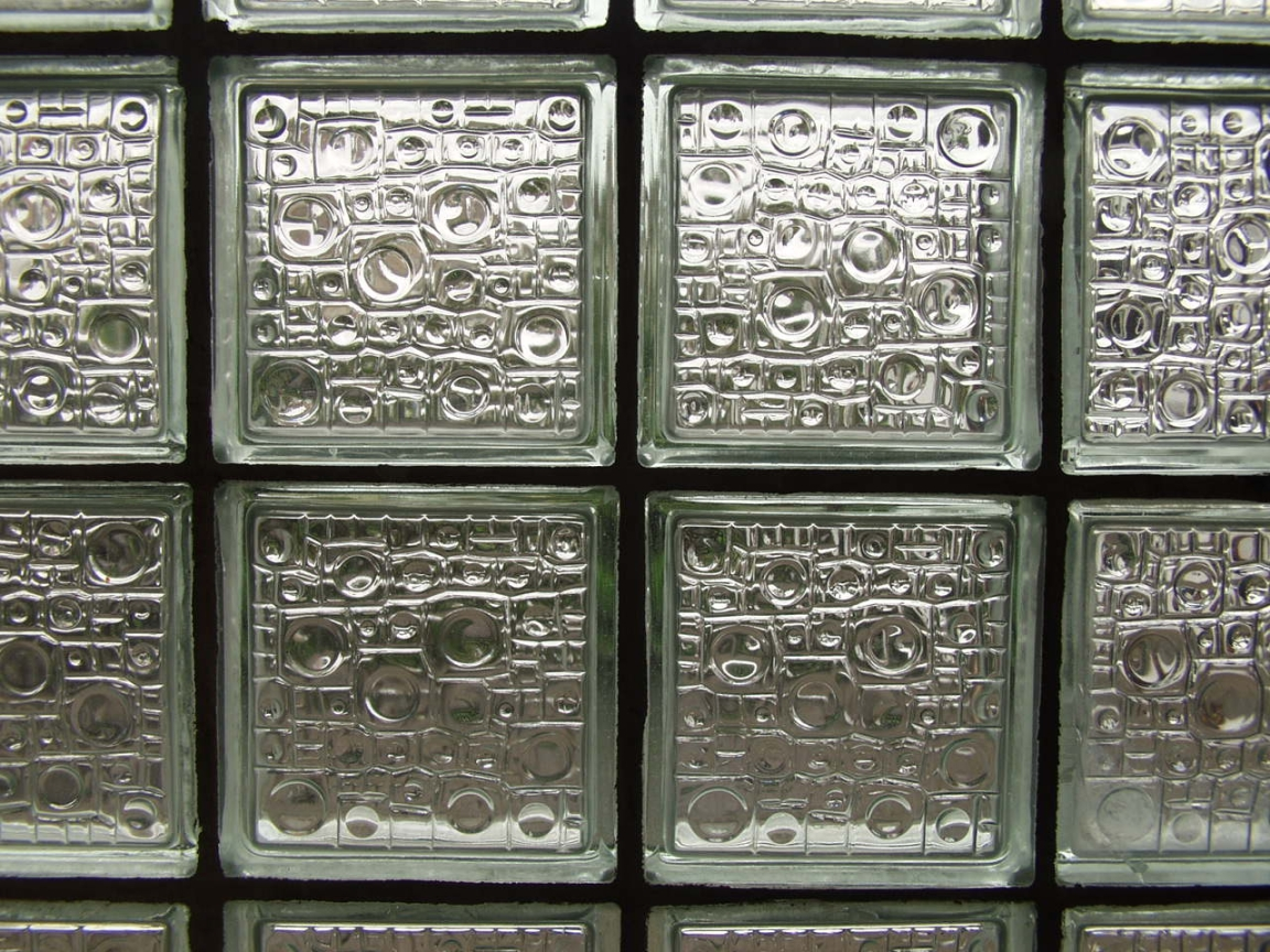 Eine Wand Aus Glasbausteinen