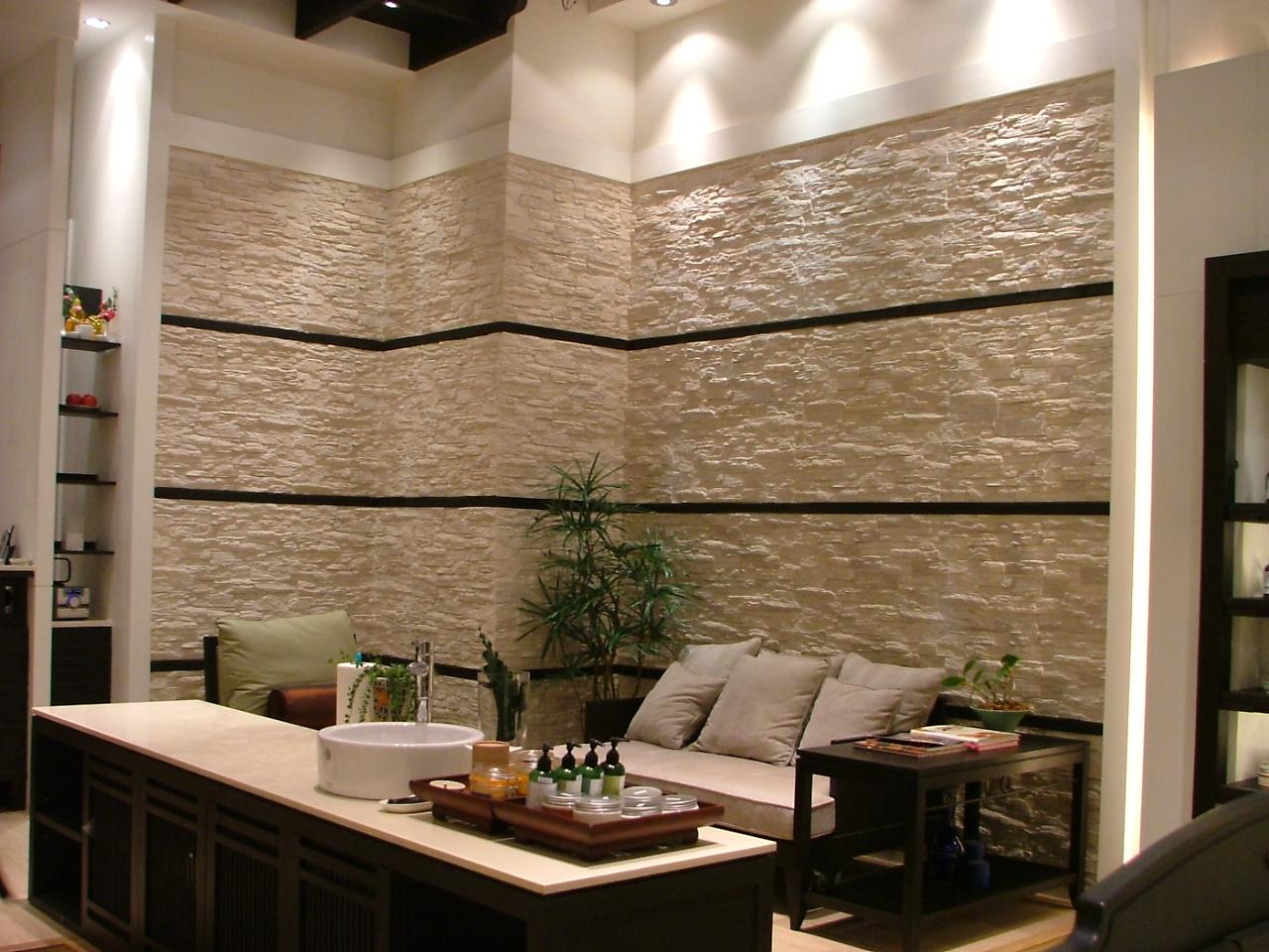 Wandverkleidung stein - Wandverkleidung wohnzimmer ...