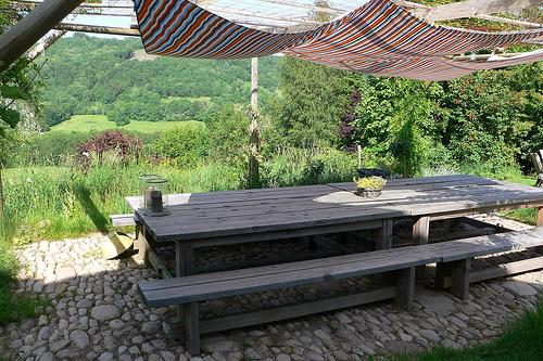 terrassengestaltung mit steinen. Black Bedroom Furniture Sets. Home Design Ideas