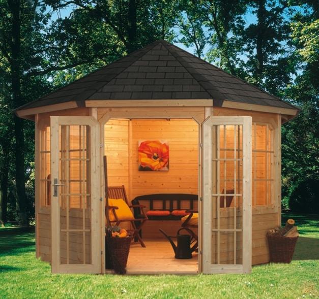 gartengestaltung mit terrasse oder pavillon. Black Bedroom Furniture Sets. Home Design Ideas