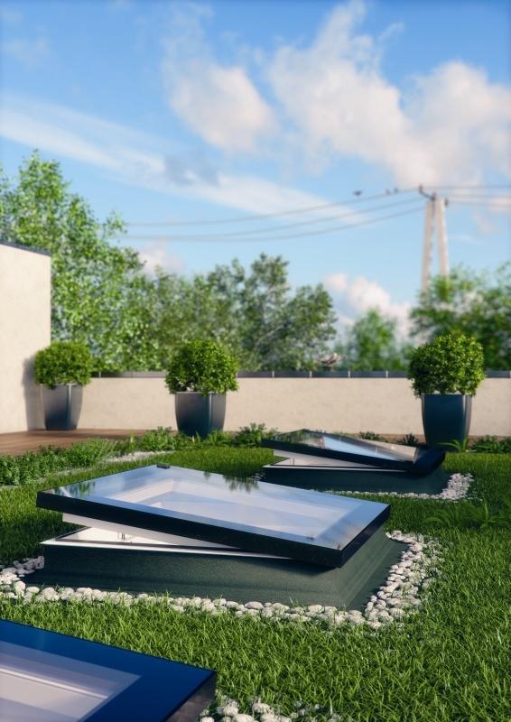 Fakro Flachdachfenster Ohne Kuppel Modern Und
