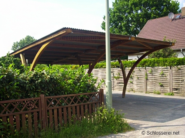 carport mit pultdach optimal f r den anbau an vorhandene w nde. Black Bedroom Furniture Sets. Home Design Ideas
