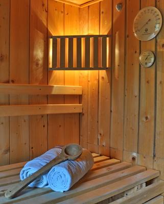 versteckt und idyllisch gartenhaus mit sauna. Black Bedroom Furniture Sets. Home Design Ideas