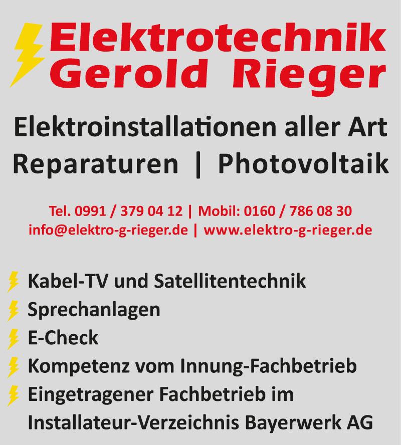 Rieger Schild 450x500 08 10 16