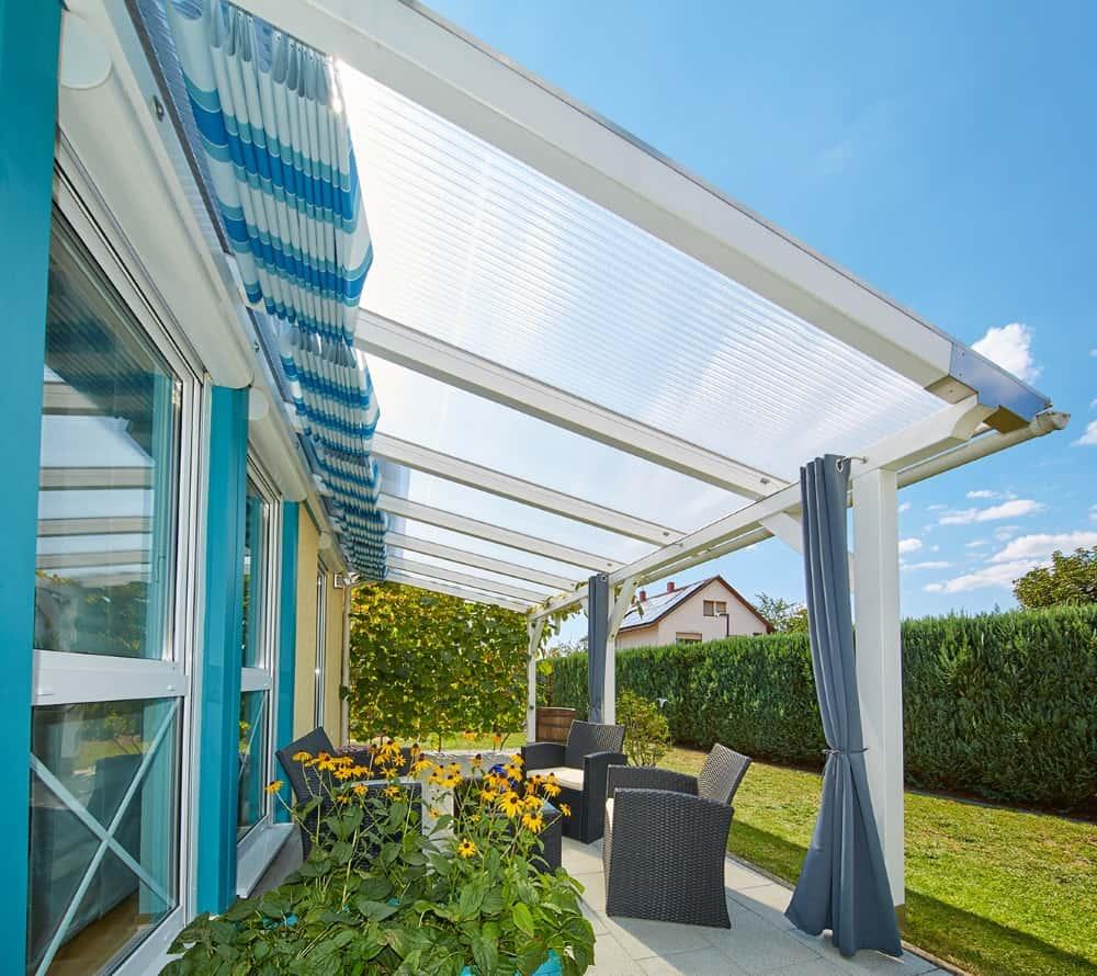 Favorit Terrassenüberdachung mit Polycarbonat-Stegplatten YU67