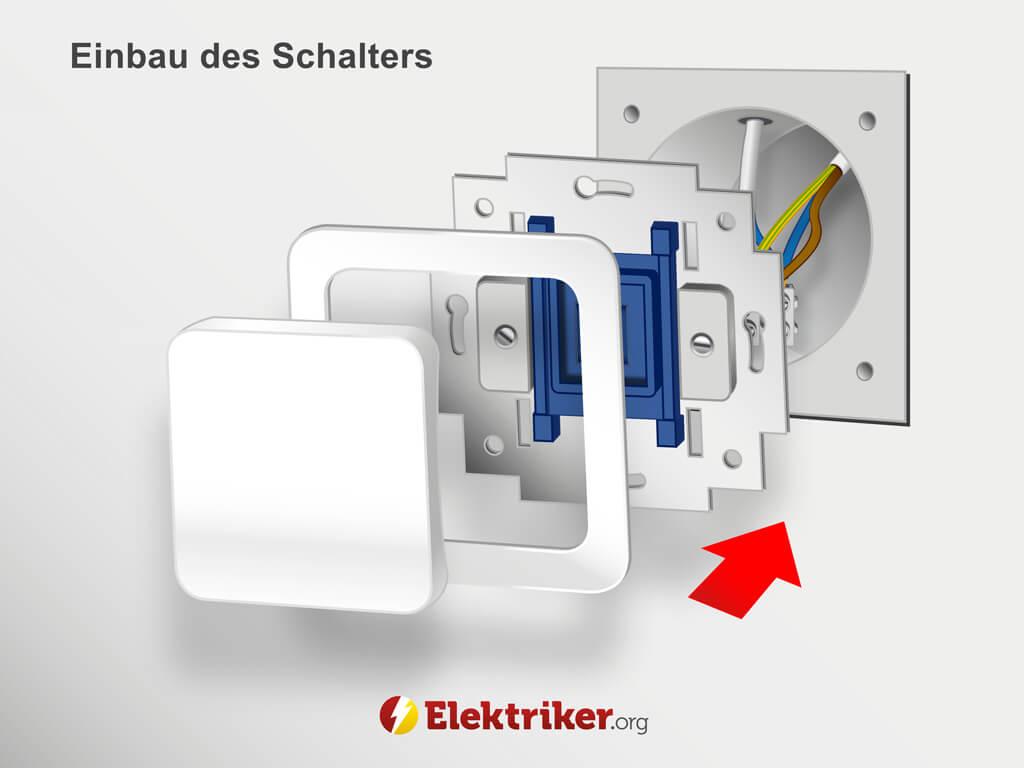 Gut bekannt Lichtschalter anschließen ▷ So funktioniert es! FT02