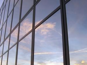 Fassade aus Sonnenschutzglas