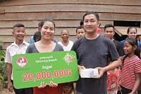 A lucky banker wins 20 million riel...