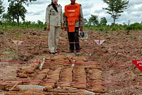 140 unexploded ordnances were found...