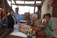 Elderly residents of Kien Svay...
