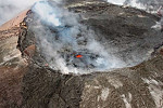 South American volcano showing early...