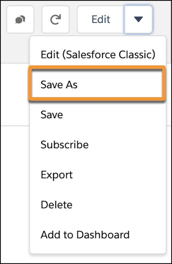 Save As highlighted in the drop-down menu.