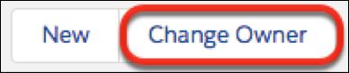 ページレベルのアクションメニューの [所有者の変更] ボタン