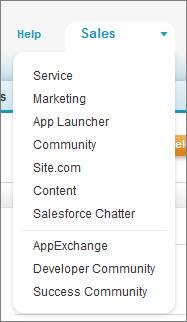 Salesforce アプリケーションピッカー