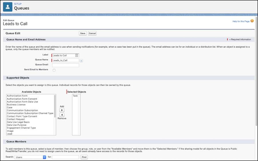 キューに割り当てられた ToDo オブジェクトで作成される新規キューが表示されているページ。