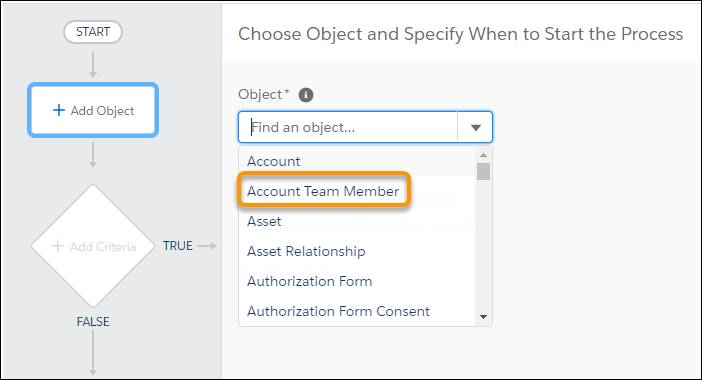 Account Team Member in the Object Manager