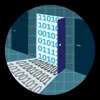 「データ管理ツールを使用したインポートとエクスポート」バッジ