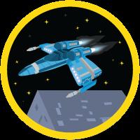 「Battle Station (戦闘基地) アプリケーションを構築する」バッジ