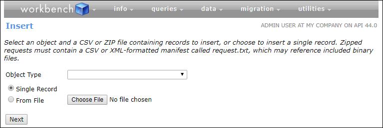 API にアクセスできるワークベンチ