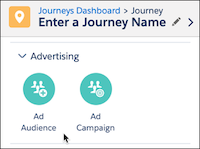 Journey Builder Advertising options: Audience and Campaign