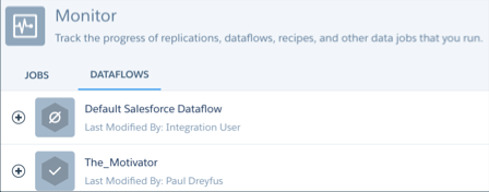 The Analytics Data Manager with Dataflows view selected