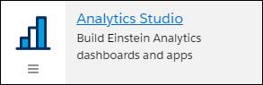 Aanalytics Studio tile in the app launcher