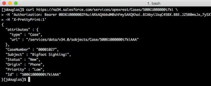 cURL and response from the command line